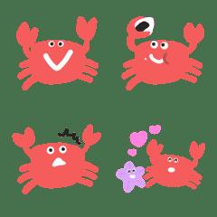 Cute Red crab Emoji – LINE Emoji | LINE STORE