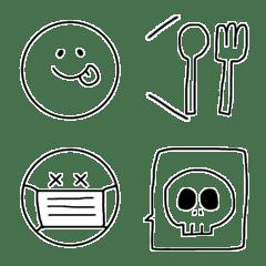 Simple face Emoji.
