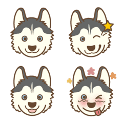husky's Emoji Gray colour Ver.1.1