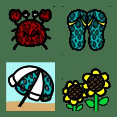 leopardpattern kawaii emoji part2