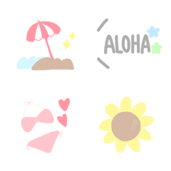 Simple and tin Emoji,summer ver.