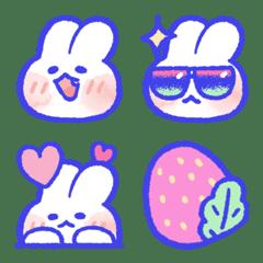 กระต่ายที่น่ารัก , lovely mongmong emoji