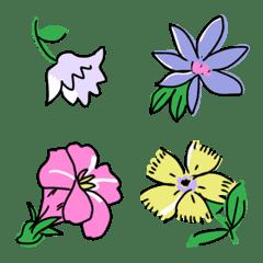 อิโมจิไลน์ France flower print Emoji