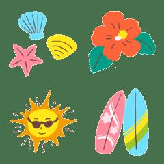 อิโมจิไลน์ It is cute when used in summer!