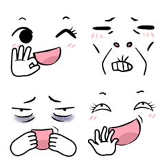 Doodle Face and Hand overemoji