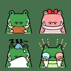 Very cute crocodile emoji