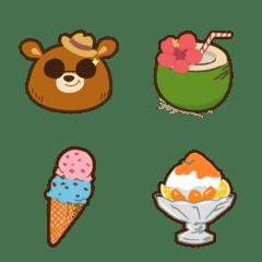HARAPECO Bear Emoji summer version