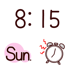 Time and day name Emoji