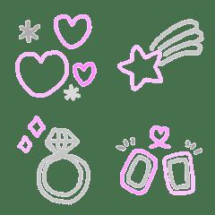 Fuchidake emoji02 pink gray