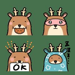 Emoji of very cute deer