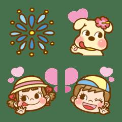 อิโมจิไลน์ Enjoy Summer! PEKO's Emoji 4th