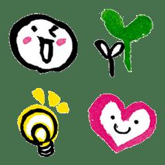 "Handwriting emoji of Fudeko.""Yuruhude"""