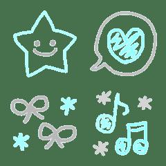 Fuchidake emoji03 blue gray