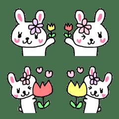 Emoji heart-Rabbit2
