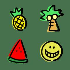 Yurukawaii tegaki summer emoji