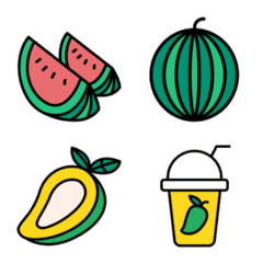 Emoji : Watermelon & Mango
