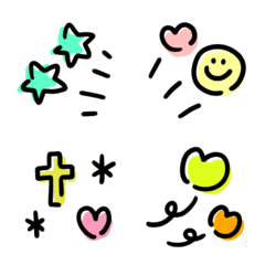 Yurukawaii tegaki frame emoji