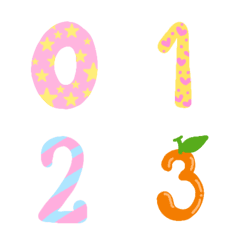 Cutie emoji : kawaii number pastei