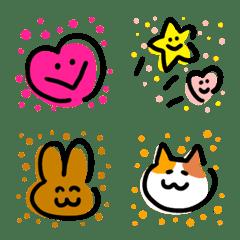 Yurukawaii tegaki hadehade emoji