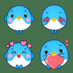 可爱的蓝鸟 Emoji