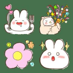 Pudgy Fluffy Rabbit Emoji 2
