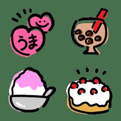 Yurukawaii tegaki sweets,food emoji