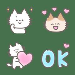 Soft handwritten cat emoji