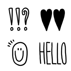 Simple otonakawaii senga emoji.