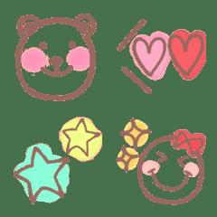 skeleton  bear and  emoji