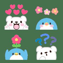 Choko emoji bear and penguin