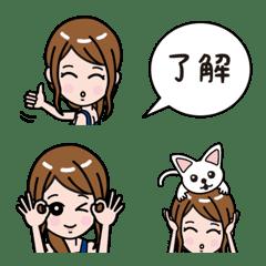 OL girl emoji