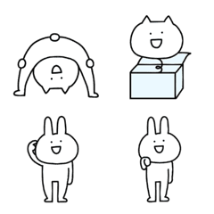 Rabbit and cat poison tongue Emoji