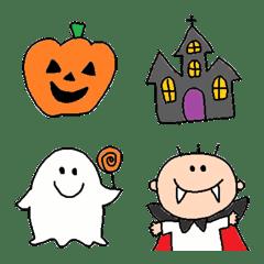 อิโมจิไลน์ HALLOWEEN and AUTUMN emoji