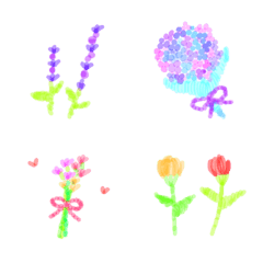 embroidery of flower&green