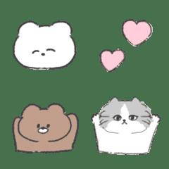 Soft and cute animal emoji.
