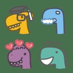 Colour Dinosaur Emoji