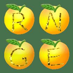 Orange Gold (A-Z) Alphabet Emoji Cute