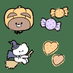Halloween emoji of cute animals