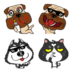 Pugky and friends emoji