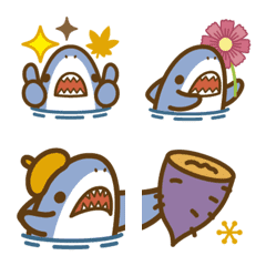 Autumn Small shark cute Emoji