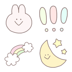 Girly Cute Rabbit Emoji