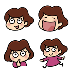 Nao-chan Emoji stickers