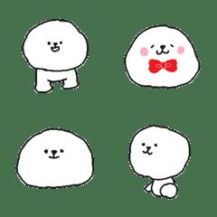 A white fluffy dog Emoji