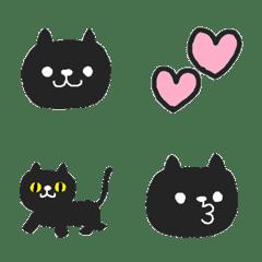 Simple cute black cat Emoji