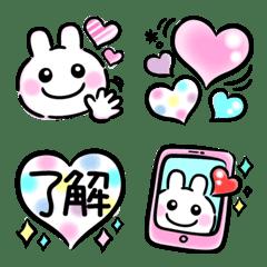 Otona Pastel WhiteRabbit Colorful Emoji2