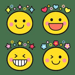 Emoji of the cute colorful smile.
