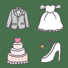 Cute wedding emoji