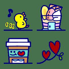 Cute and Simple Emoji Cityscape ver.3