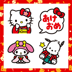 SANRIO CHARACTERS New Year's Gift Emoji
