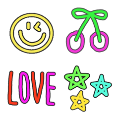Various neon set emoj2